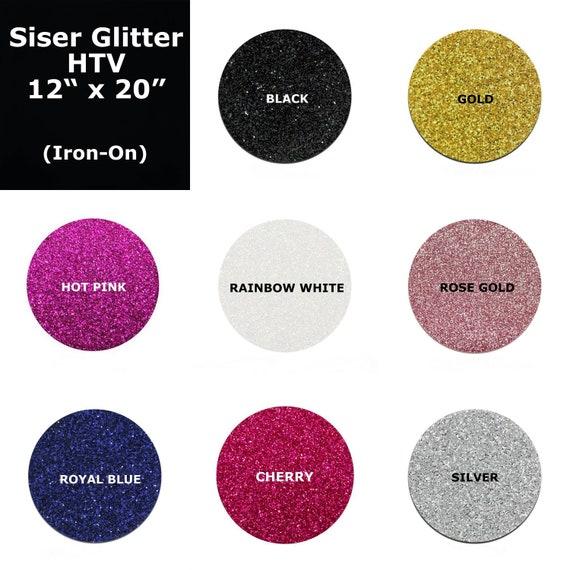 Siser Glitter Heat Transfer Vinyl Glitter Htv Iron On Etsy