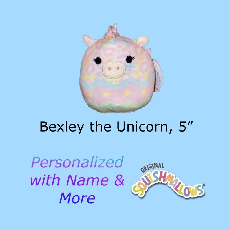 CUSTOM SQUISHMALLOW Bexley the Unicorn 5 inch  with first image 0