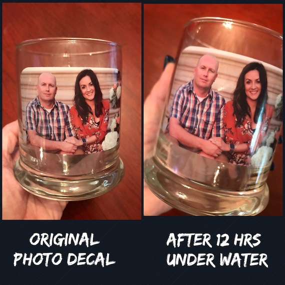 PHOTO Candle Holder  - WATERPROOF - High Quality shaped decal using your favorite photo or logo