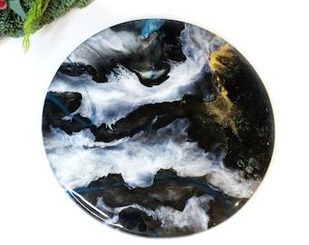 Resin Art - Resin Painting - Resin Wall Hanging - Resin Wall Decor - Resin Artwork - Fluid Painting - Abstract Painting - Handmade in UK
