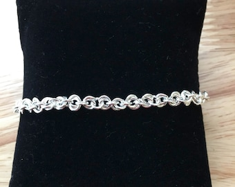 Silver Twisted 2 by 1 Chain Bracelet