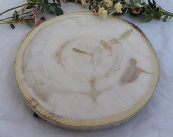 "Large 12"" Tree Slice - 12 Inch ~ Rustic Wedding Decor, Cake Stand, Charger, Wedding Centerpiece, Wood Slab, Large Wood Slab"