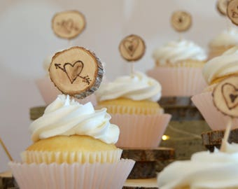 Wedding cupcake toppers etsy popular items for wedding cupcake toppers junglespirit Choice Image