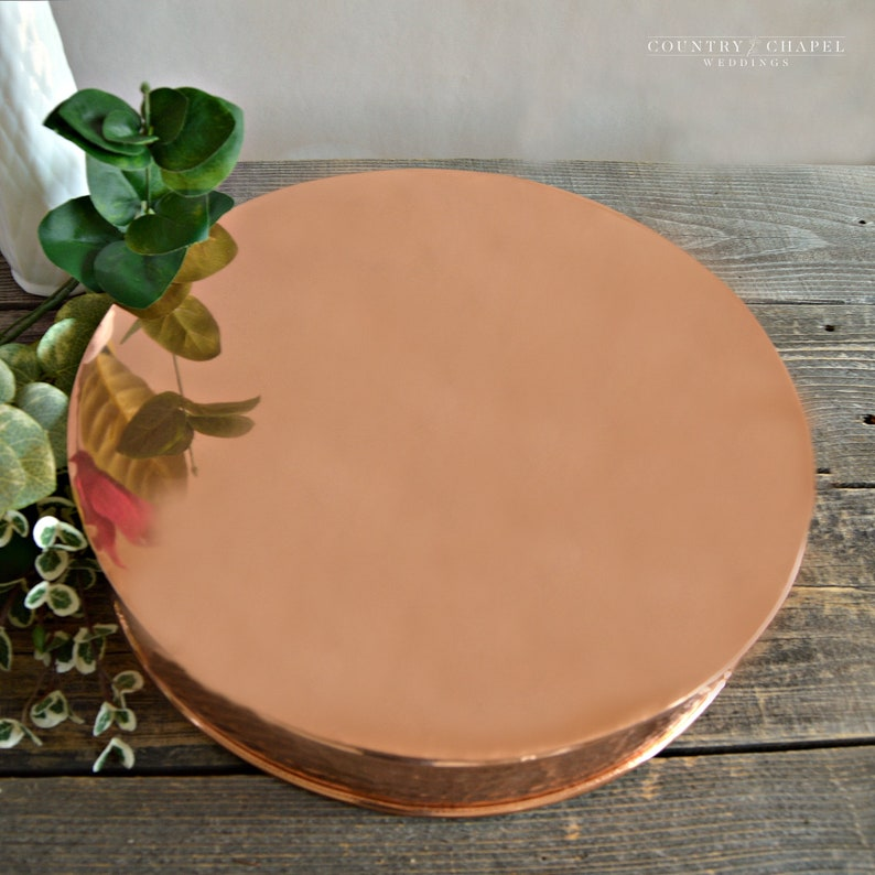 Hammered Copper Cake Stand ~ Copper Copper Cake Plate ~ Metal Cake Stand ~ Modern Cake Stand ~ Industrial Cake Stand ~ Cake Plateau