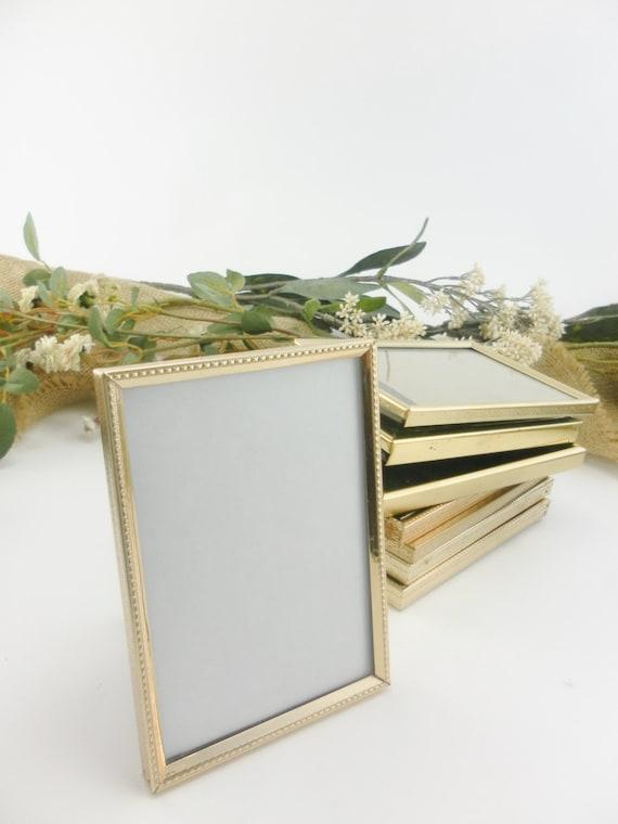 5 Small Vintage Frames 2.5 x 3.5 Wedding Table
