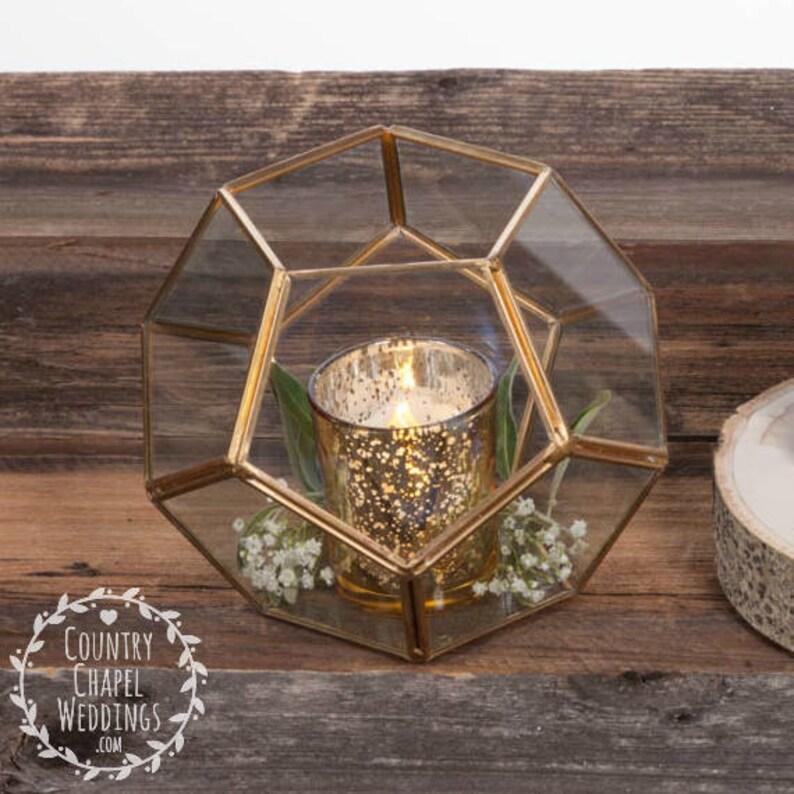 Gold Geometric Terrarium Wedding Terrarium Succulent Etsy