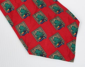 2e902286e1 Cape Cod Neckwear, Christmas Tie. Christmas Trees Repeating Pattern.  Excellent Condition. 100% Silk. Made in USA.
