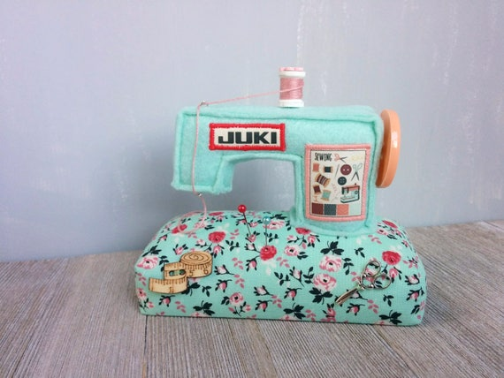 JUKI Sewing machine Pincushion Miniature Unique Handcraft | Etsy