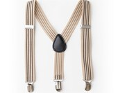 Baby Tan Stripe Baby Suspenders- Boy Suspenders- Baby Boy Suspenders- Suspenders- Kids Suspenders- Wedding Groomsmen