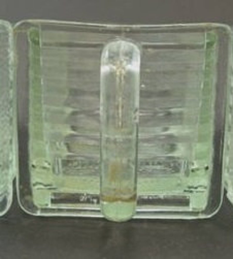 vintage 2 large vintage German glass scoops  Poncet and HEYE