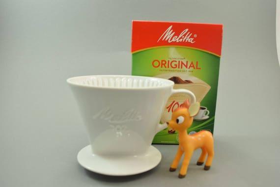 vintage kaffee filter handfilter aus keramik porzellan 1 loch etsy. Black Bedroom Furniture Sets. Home Design Ideas