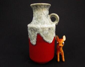 Vintage fat lava vase / U-Keramik (Uebelacker) | Mid century | West German Pottery | 60s