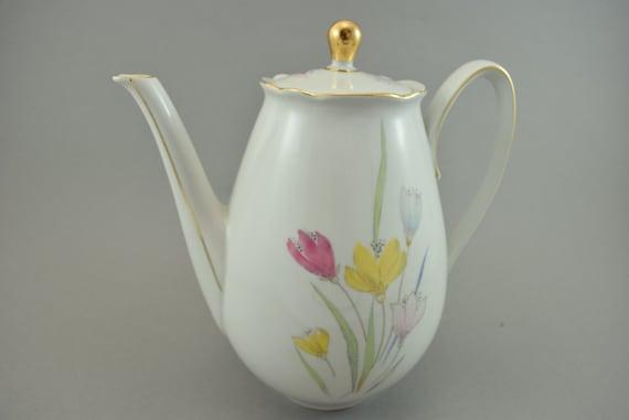 Alte Romantische Teekanne Kaffeekanne Vintage Porzellan Deutschland 50er