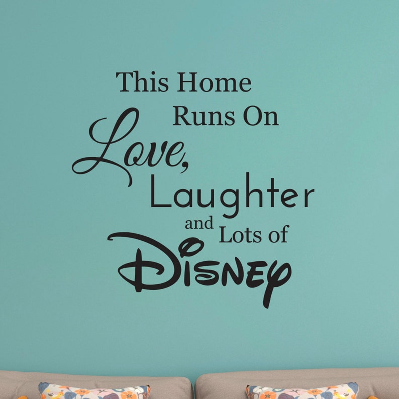 disney wall decal disney wall sticker family wall decal run | etsy