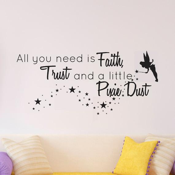 disney wall decal disney wall sticker pixie dust wall decal | etsy