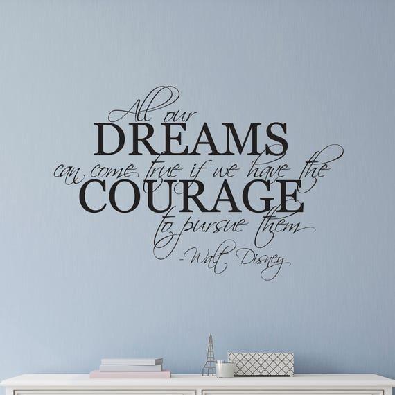 disney wall decal disney wall sticker dreams wall decal | etsy