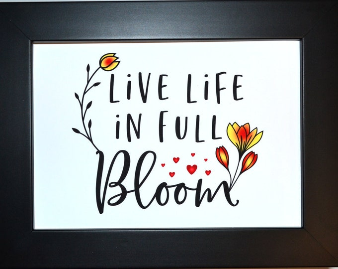 Full Bloom, Wall Art, home decor, art prints, canvas and framed options, card option