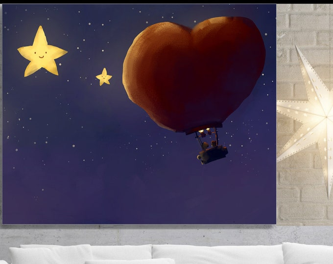 Up And Away, Wall Art, home decor, art prints, canvas and framed options, card option