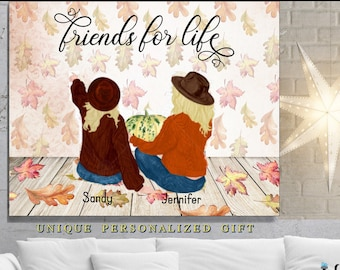 Friends For Life, Best Friends Birthday Gift, Personalized Friend Gift, Bff Gifts, Best Friend Print, Best Friend Gifts, Friendship Gift