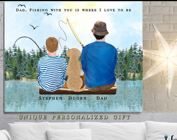 Unique Gift Ideas For Dad Who Loves To Fish, Fathers Day Gift, Personalized Gift Dads Birthday Present, Father Son Gift, Fishing Buddies
