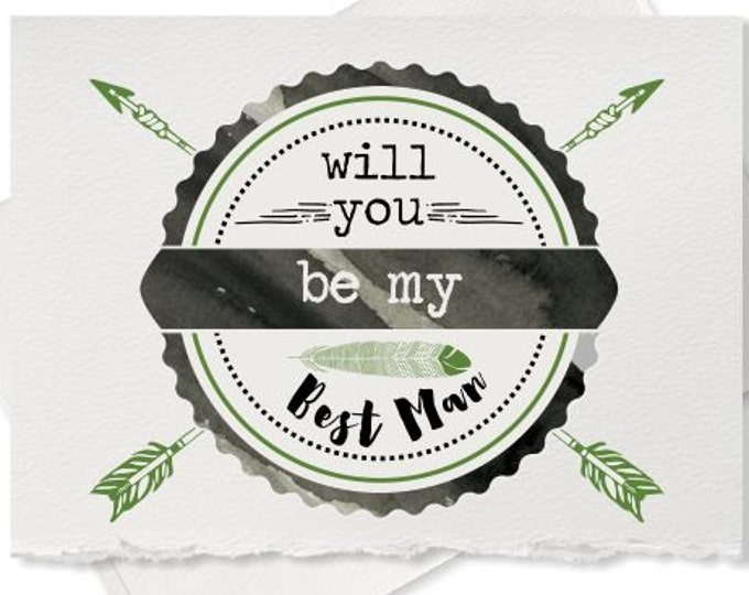 Will you be my best man card from groom engagement groomsman ring bearer wedding party invitation for wedding bachelor party best man cards