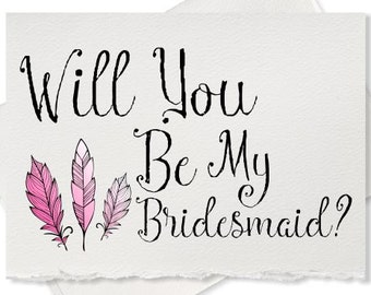 Rustic, Will You Be My Bridesmaid Cards, Bridesmaid Gifts, Bridal Party Gift, Bridesmaid, Proposal Wedding Sets. Blush
