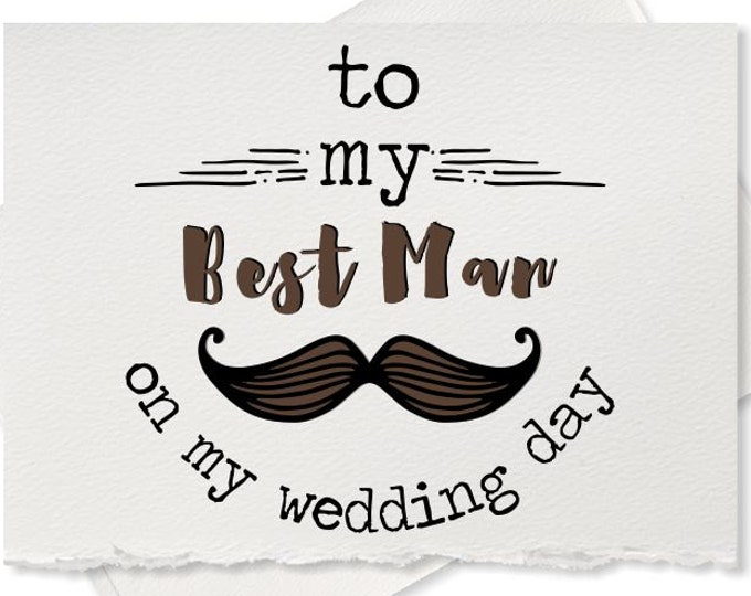 To My Best Man Groomsman Wedding Gift for Best man Thank You Note Cards Bridesman Maid of Honor Ring Bearer Bridesmaid
