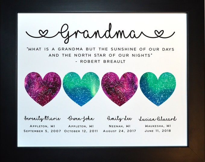 Gift For Grandma, 4 Star Globe Locations, Perfect For Grandma Birthday, Christmas, Mother's Day Present Idea 1837799283