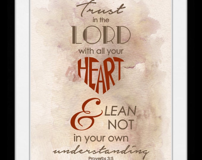 Trust in the lord. wall art, home decor, art prints, canvas and framed options, cards
