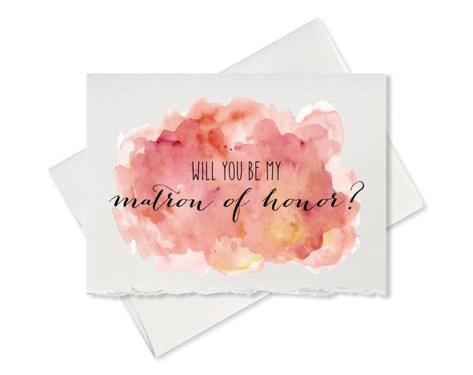 To My Bridesmaid Maid of Honor Wedding Party Wedding Thank You Cards Thank You Bridesmaid Card Matron of Honor Flower Girl Cards for Wedding