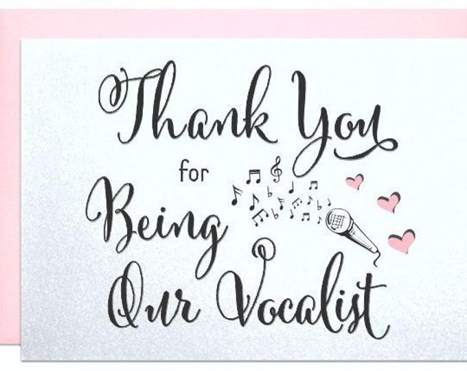 Card for wedding singer, vocalist, performer dj musician mc, thank you card for wedding music band, wedding vendor thank you cards Musicians