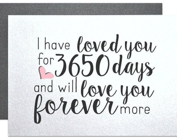 Anniversary Card, for husband boyfriend wife girlfriend couple with number of days fiance wedding cards couple anniversary gift note