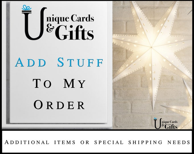 Special Requests For My Order, Shipping, Customization, Personalization, Add-ons