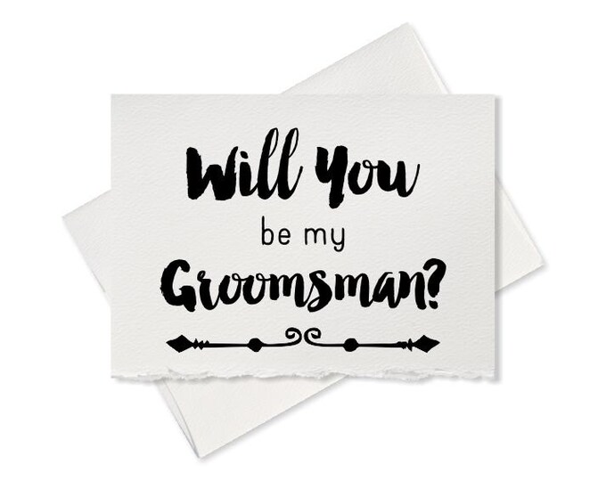 Will you be my groomsman best man card from groom engagement ring bearer wedding party invitation for rustic wedding bachelor party