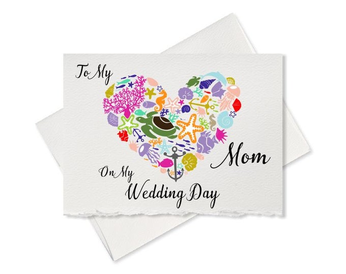 Pacific wedding, thank you card to my mom on my wedding day, mother of the bride gift note groom parents