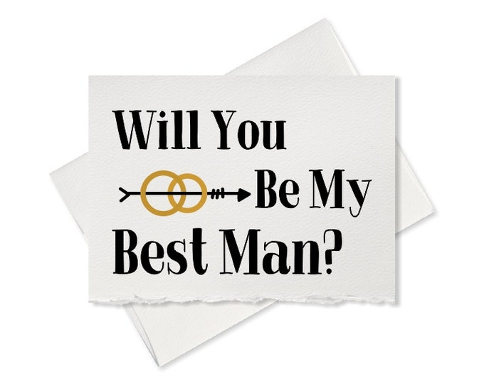 Will you be my Best Man, rustic wedding, recycled wedding, groomsman card from groom ring bearer wedding party