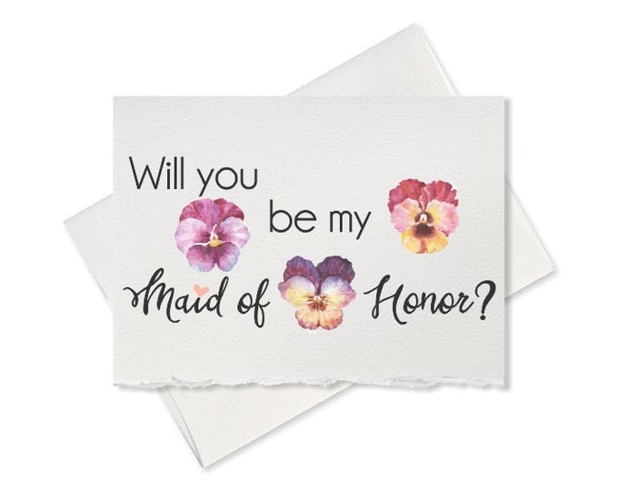 Will you be my Maid Of Honor rustic wedding, card for maid of honor gift sister maid of honor maid of honor proposal maid of honor card