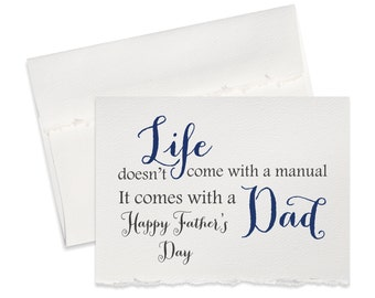 Fathers day greeting card for dad happy fathers day card for daddy father life doesn't come with a manual fathers day card rustic dad card