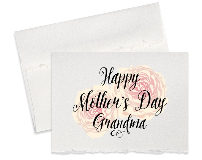Mothers day card for Grandma or Mom, mother's day card mom card beautiful cards mama Happy Mother's Day greeting cards blank inside mom card