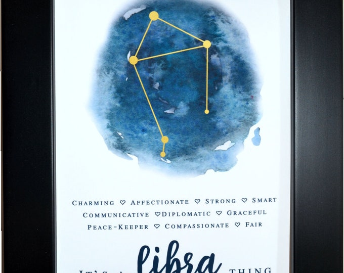 Libra wall art, home decor, art prints, canvas and framed options, cards