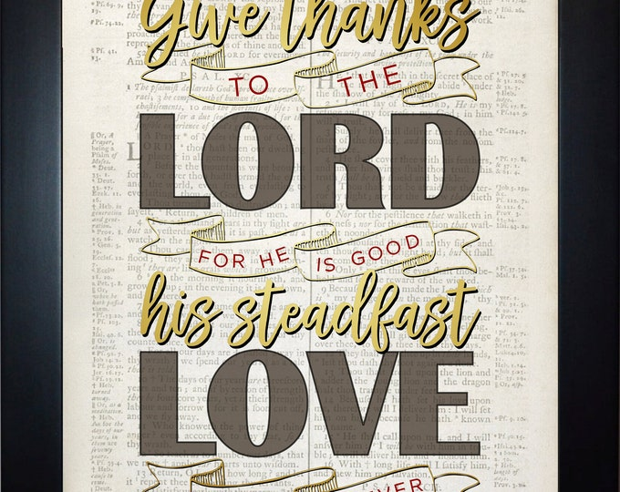 Give Thanks Wall Art, Home Decor, Art Prints, Canvas And Framed Options, Card Option