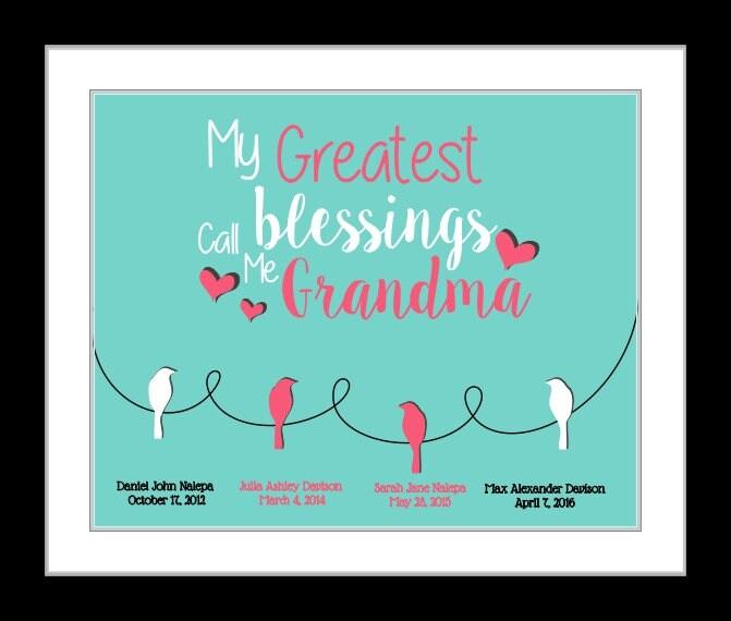 Mothers Day Gifts Grandma Gift Grandma Birthday Gift Grandmother