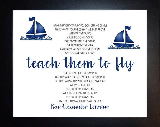 Teach Them To Fly Wall Art, home decor, art prints, canvas and framed options, card option