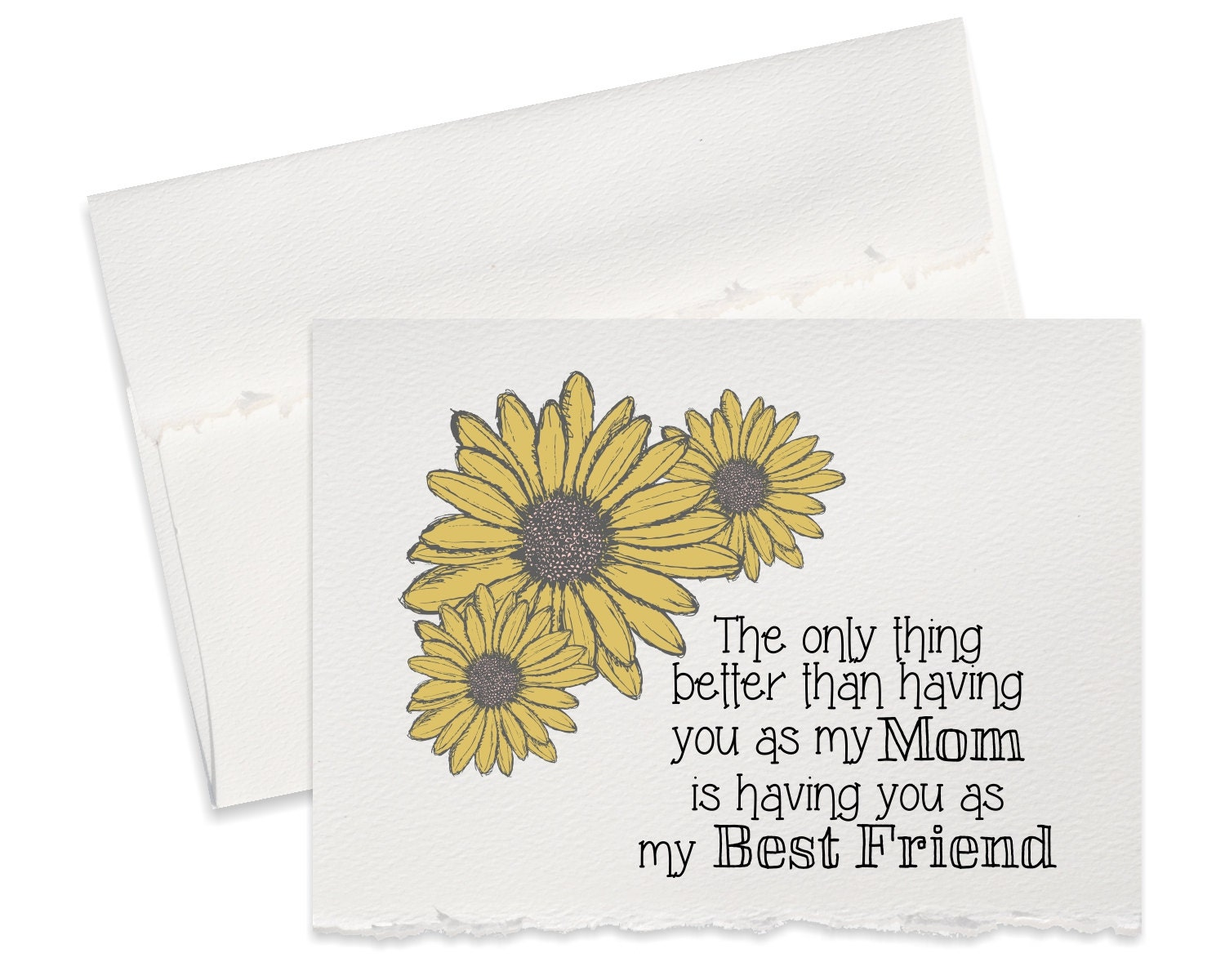 Sunflower Greeting Card For Mom Thank You Birthday Day Happy Mother Wedding Cards