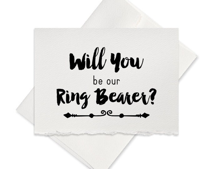 Will you be my ring bearer card groomsman best man wedding party invitation for wedding engagement party from groom