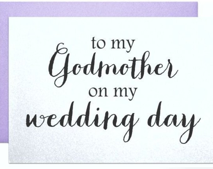 Godmother wedding card to my godmother on my wedding day will you be my godmother thank you note card from bride and groom wedding cards