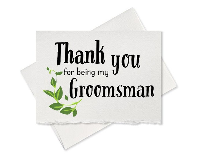 Thank you for being my groomsman thank you card wedding best man will you be my wedding party cards to go with groomsmen wedding gift