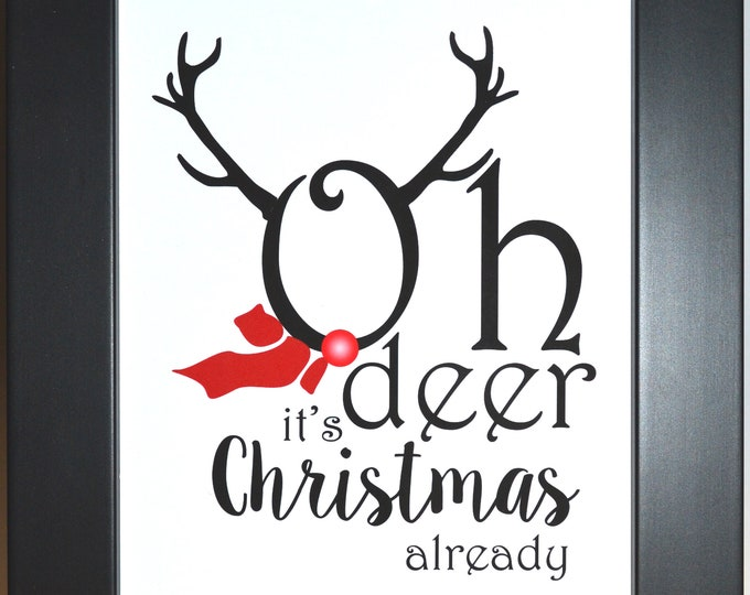 Oh Deer Art, Home Decor, Art Prints, Canvas And Framed Options, Card Option