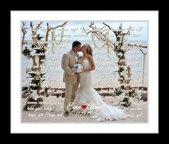 Wedding song gift personalized anniversary gifts for couple  94a1c1fd5f