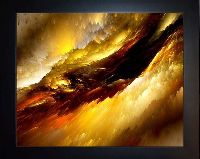 Abstract Amber Clouds Wall Art, home decor, art prints, canvas and framed options, card option